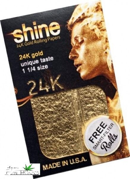 Shine 24 Karat Gold Rolling Papers 11/4 - 1Stk.