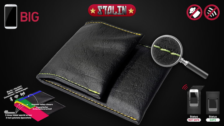 Stalin Handytasche Yellow Stitch/Gelbe Naht